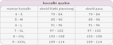 5a2842775ba8b3 Tabele rozmiarów bielizny męskiej i damskiej - GLG-Bielizna